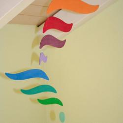 Móvil de madera - Harmony Wings 75 cm