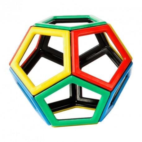 Magnetic Polydron 12 piezas pentagonales imantadas - juguete de formas geométricas