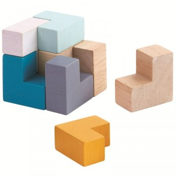 PlanMini - Puzle Cubo 3D de madera