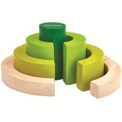 Bloques Curvados - juego educativo de madera