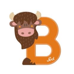 Letra de madera B - Búfalo