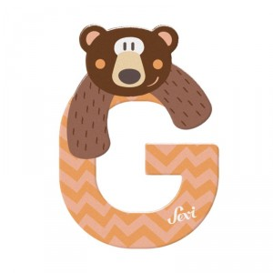 Letra de madera G - Grizzly