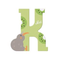 Letra de madera K - Kiwi