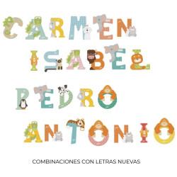 Letra de madera L - León