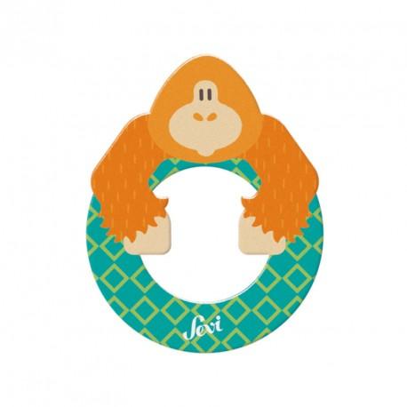 Letra de madera O - Orangután