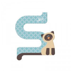 Letra de madera S - Siamés