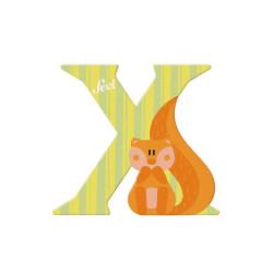 Letra de madera X - Xero