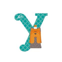 Letra de madera Y - Yorkshire Terrier