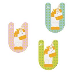 Letra de madera U - Unicornio