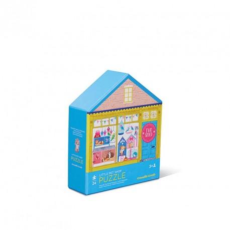 Puzzle doble cara Pequeña tienda de mascotas - 24 pzas.
