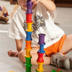 18 Carretes de madera colores arcoiris