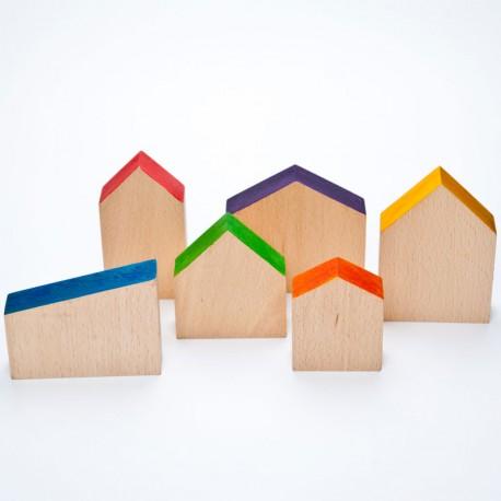 6 Casitas de madera para Nins