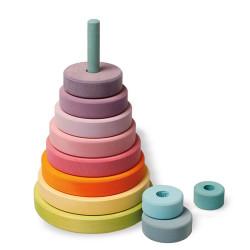 Torre apilable redonda Grande en colores Pastel