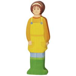 Granjera - personaje de madera