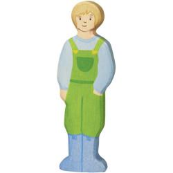 Granjero - personaje de madera