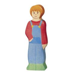 Niño Granjero - personaje de madera