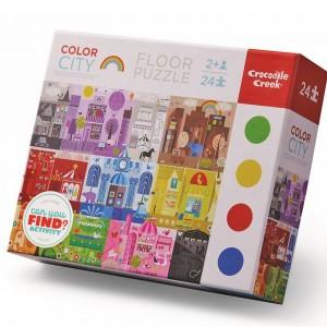 Puzzle de suelo Ciudad de los Colores - 24 pzas.