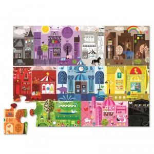 Puzzle de suelo Colores en la Cuidad - 24 pzas.