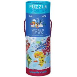Puzzle y póster Ciudades del Mundo - 200 pzas.