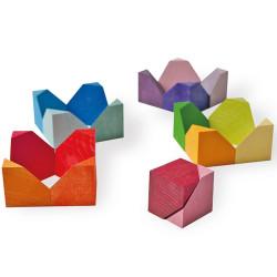 Bloques geométricos - 18 bloques de madera de construcción