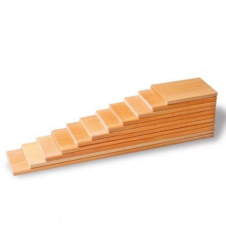 Tablas de construcción - 11 Bloques de madera natural