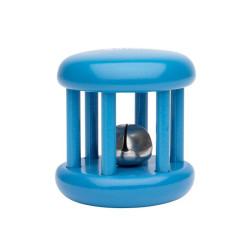 Sonajero rueda de madera pequeño con cascabel - Azul