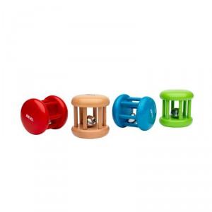 Sonajero rueda de madera pequeño con cascabel - Verde