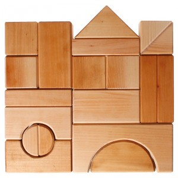 Bloques de construcción madera grandes - Natural medida base 7cm
