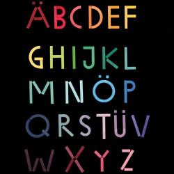Puzzle magnético de madera - Alfabeto