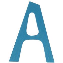 Letra A de madera