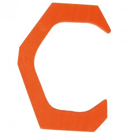 Letra C de madera