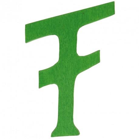 Letra F de madera