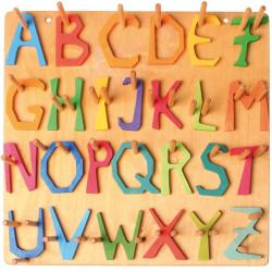 Letra H de madera
