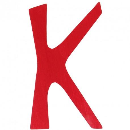 Letra K de madera