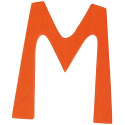 Letra M de madera