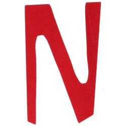 Letra N de madera