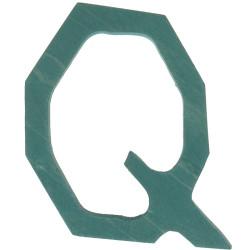 Letra Q de madera
