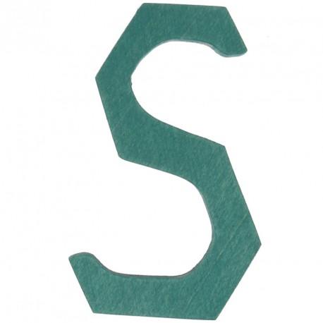 Letra S de madera