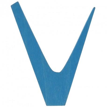Letra V de madera