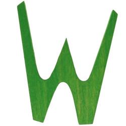 Letra W de madera