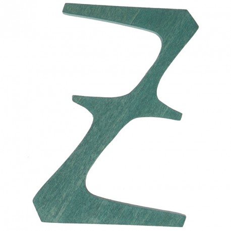 Letra Z de madera