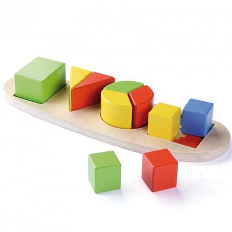 Set para aprender las formas de madera - juego de encajar