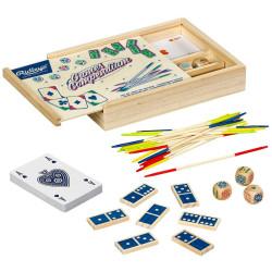 Set de juegos clásicos de madera - House of Novelties