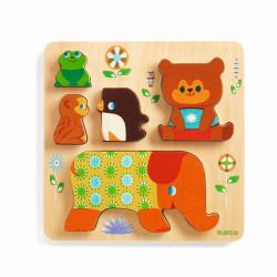 Puzzle encajable de madera Woodypile - 6 pzas.
