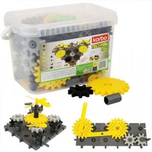 Korbo 122 Technik - juguete de construcción con engranajes