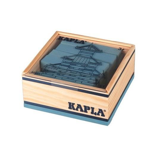 KAPLA color, azul claro - 40 placas de madera