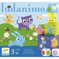 Ludanimo - juego 3 en 1 - carreras, memoria y equilibrio.
