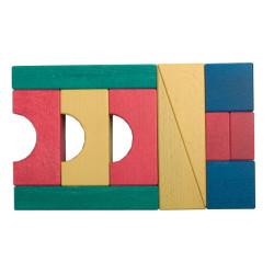 11 bloques de construcción, diferentes medidas y colores