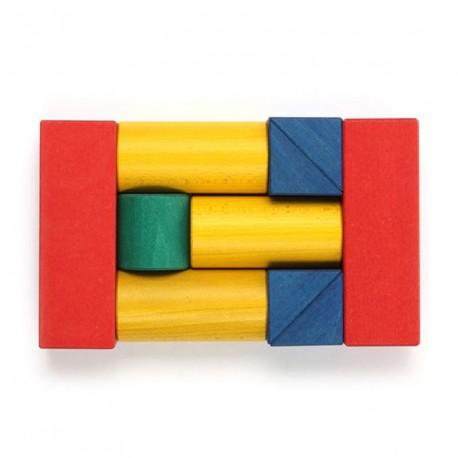 10 bloques de madera de construcción, diferentes medidas yo colores