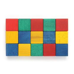 15 Cubos 50mm Bloques de madera de construcción de colores